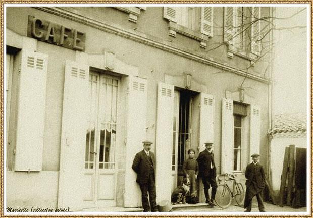 Gujan-Mestras autrefois : un des cafés, Bassin d'Arcachon (carte postale, collection privée)