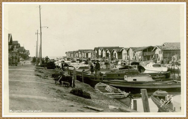 Gujan-Mestras autrefois : Port du Canal en 1950, Bassin d'Arcachon (carte postale, collection privée)