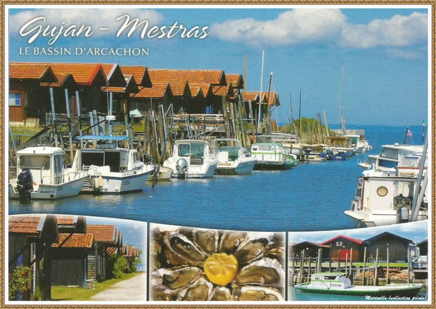 Gujan-Mestras autrefois : Port du Canal, Bassin d'Arcachon (carte postale multivues 2013, collection privée)