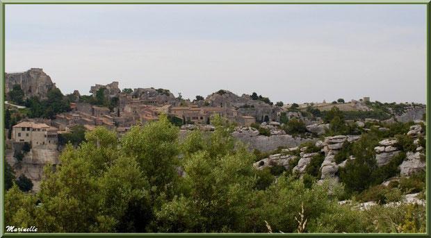 La cité des Baux-de-Provence (vue zoomée depuis le Val d'Enfer), Alpilles (13)