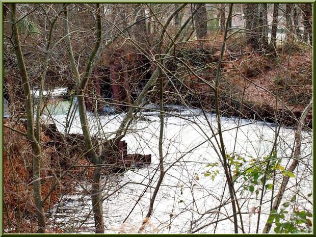 Une des écluses sur le Canal des Landes au Parc de la Chêneraie à Gujan-Mestras (Bassin d'Arcachon)