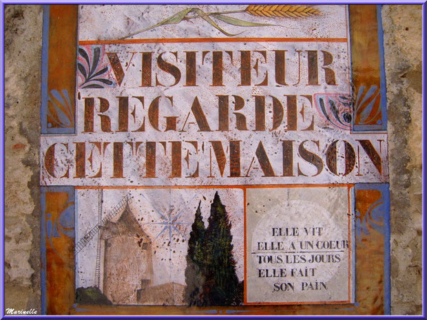 Plaque avec inscription murale, Baux-de-Provence, Alpilles (13)