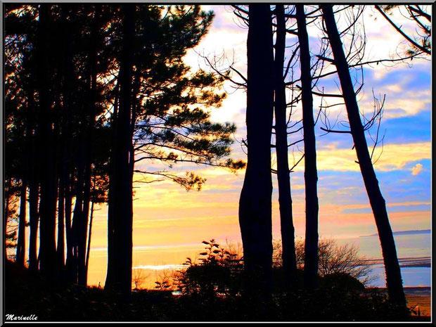 Coucher de soleil en front de mer au quartier de Péreire à Arcachon (Bassin d'Arcachon)