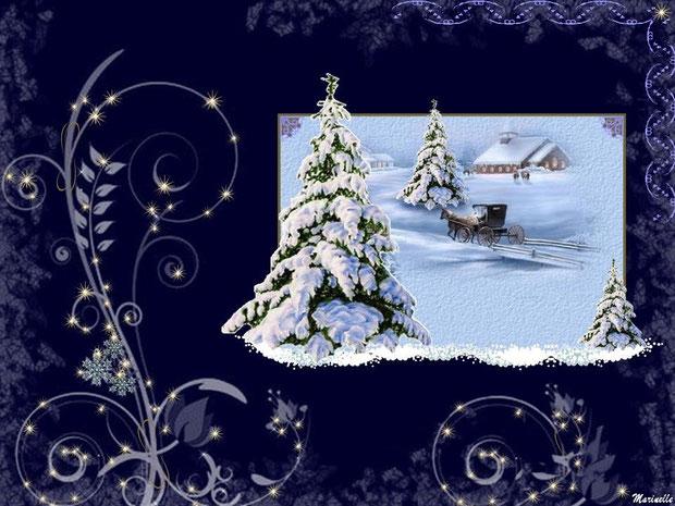 Calèche dans la neige