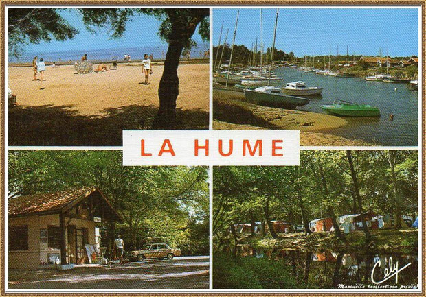 Gujan-Mestras autrefois : La Hume (carte postale multivues, collection privée)