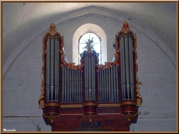 Eglise Notre Dame de Beaulieu, village de Cucuron, Lubéron (84) : orgue