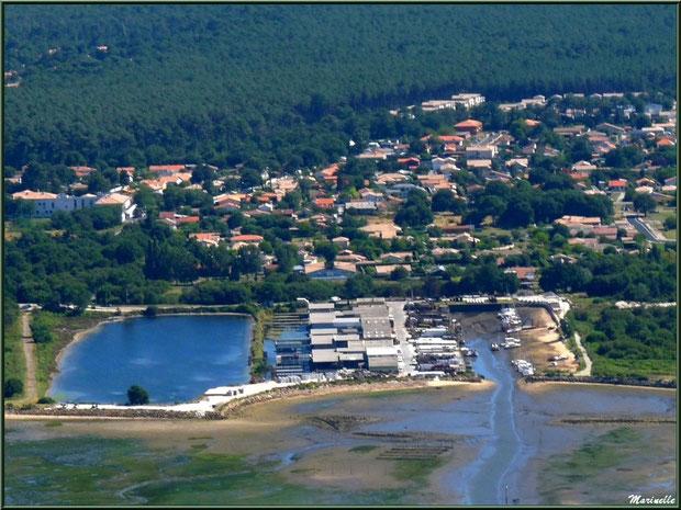 La Teste et son port du Rocher, Bassin d'Arcachon vu du ciel (33)