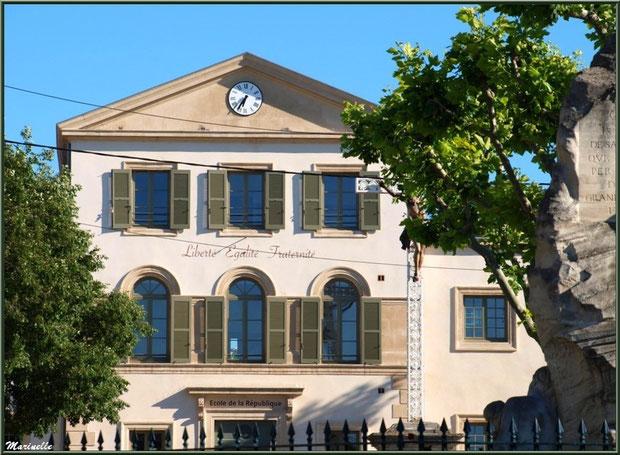 Ecole de la République, Place de la République, Saint Rémy de Provence, Alpilles (13)