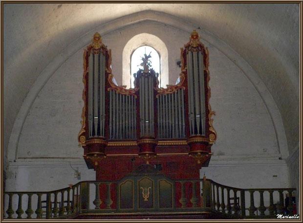 Eglise Notre Dame de Beaulieu, village de Cucuron, Lubéron (84) : orgue du XVIIème siècle sur son balcon