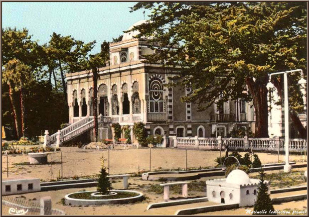 La Villa Algérienne et son mini golf, Village de L'Herbe, Bassin d'Arcachon (carte postale ancienne, collection privée)