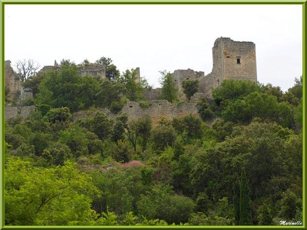 Le château féodal en ruines, village d'Oppède-le-Vieux, Lubéron (84)