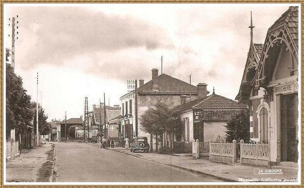 Gujan-Mestras autrefois : le Cours de Verdun , Bassin d'Arcachon (carte postale, collection privée)