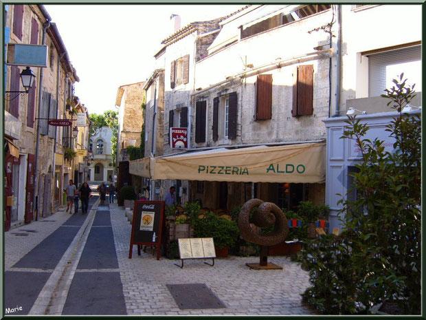 """Pizzeria """"Aldo"""" dans une ruelle centre ville à Saint Rémy de Provence, Alpilles (13)"""