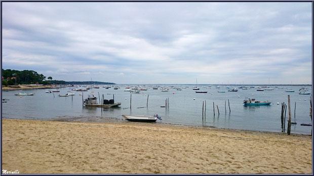 """Vue depuis la terrrasse, dégusation d'huîtres """"La Barque à Huîtres"""", Village de L'Herbe, Bassin d'Arcachon (33)"""