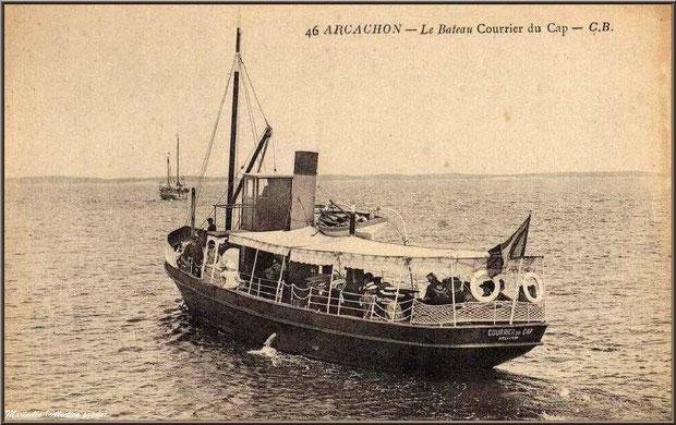 """Le """"Courrier du Cap"""", bateau Bassin d'Arcachon autrefois, Bassin d'Arcachon (33)"""