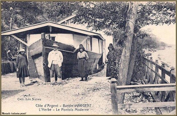 Habitations de pêcheurs, Village de L'Herbe autrefois, Bassin d'Arcachon (33)