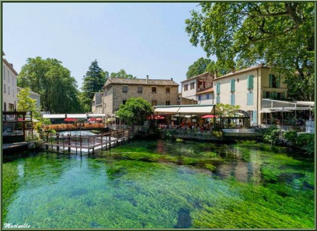 Restaurants sur La Sorgue, Fontaine de Vaucluse, Pays de La Sorgue, Vaucluse (84
