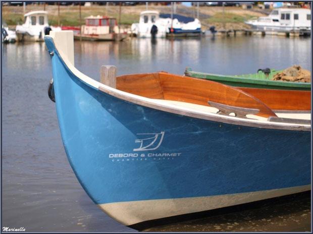 """Pétroleuse """"Thétys"""", Chantier Naval Debord et Charmet, Port de Meyran à Gujan-Mestras, Bassin d'Arcachon (33)"""