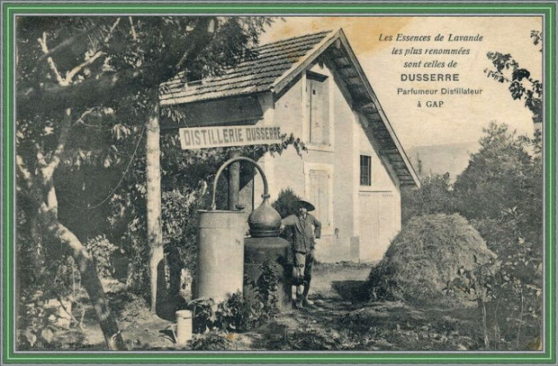 Autrefois... Une distillerie (carte postale - collection privée)