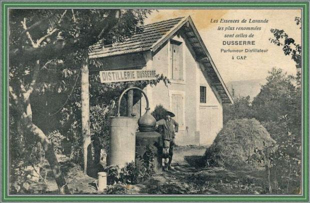Autrefois... Une distillerie (carte postale - collection privée)