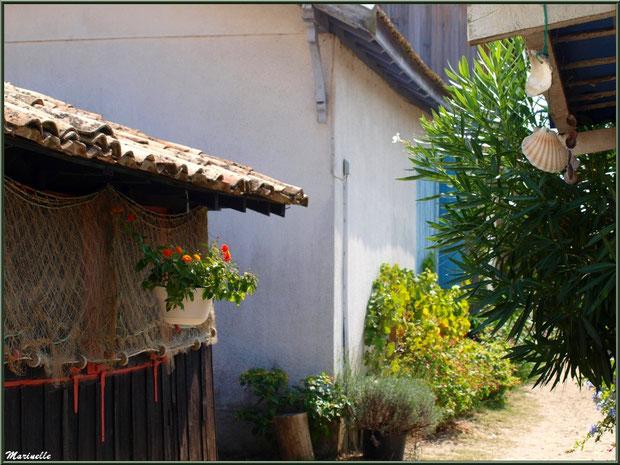Coquetteries dans une ruelle, Village de L'Herbe, Bassin d'Arcachon
