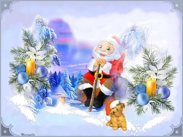 Le Père Noël se repose avant sa grande distribution de cadeaux !