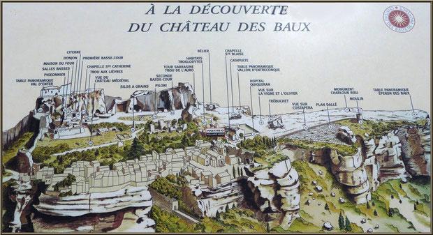 Plan du Château des Baux-de-Provence, de nos jours, Alpilles (13)