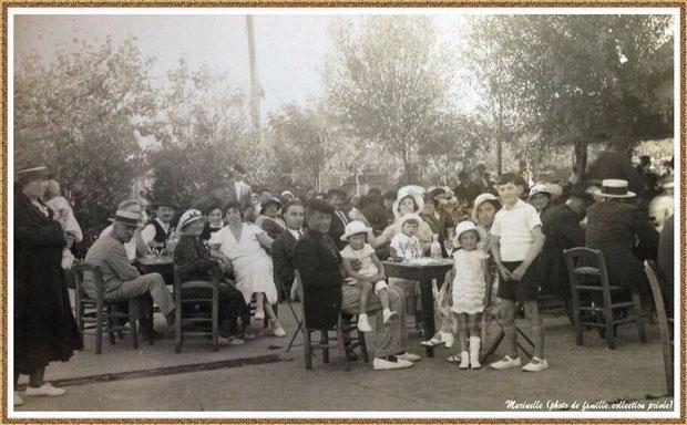 """Gujan-Mestras autrefois : """"La Chaumière"""", Bassin d'Arcachon (photo de famille, collection privée)"""