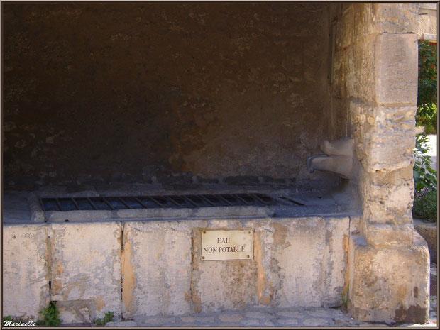 Lavoir des Porcelets avec son robinet en forme de groin, Baux-de-Provence, Alpilles (13)