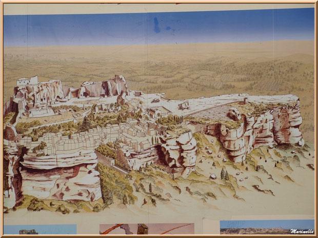 Panneau de la cité des Baux-de-Provence à l'entrée de la cité, Alpilles (13)