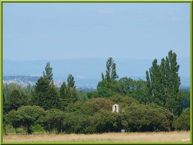 Le clocher de la Chapelle Notre-Dame de Romanin, dite aussi chapelle Notre-Dame de Pierargues, au lieu-dit Romanin à Saint Rémy de Provence, Alpilles (13)