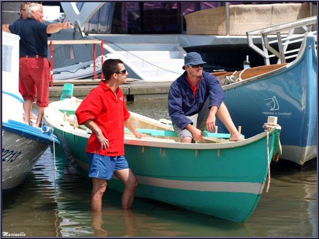 Les pinasses et pinassotes revenant de la pêche à la sardine ont accosté - Fête du Retour de la Pêche à la Sardine 2014 à Gujan-Mestras, Bassin d'Arcachon (33)