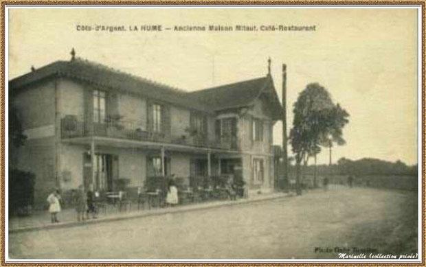 """Gujan-Mestras autrefois : La Hume, le """"Café Restaurant de la Gare"""", Route Départementale, Bassin d'Arcachon (carte postale, collection privée)"""