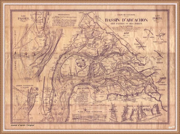 Plan Bassin d'Arcachon en 1937