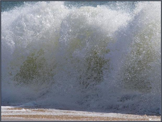 """Vague en éclat en bord de plage à """"La Pointe"""" au Cap Ferret"""