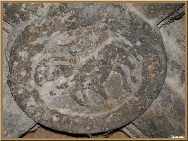 Sculpture au plafond du cloître de l'abbaye de Silvacane, Vallée de la Basse Durance (13)