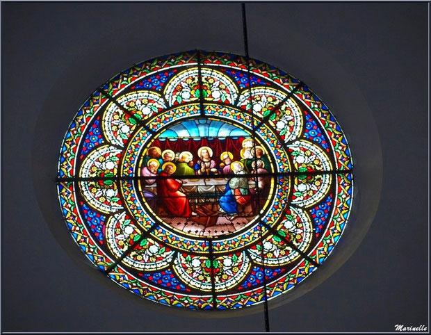 L'église Saint Pierre de Laruns, Vallée d'Ossau (64) : rosace représentant La Cène