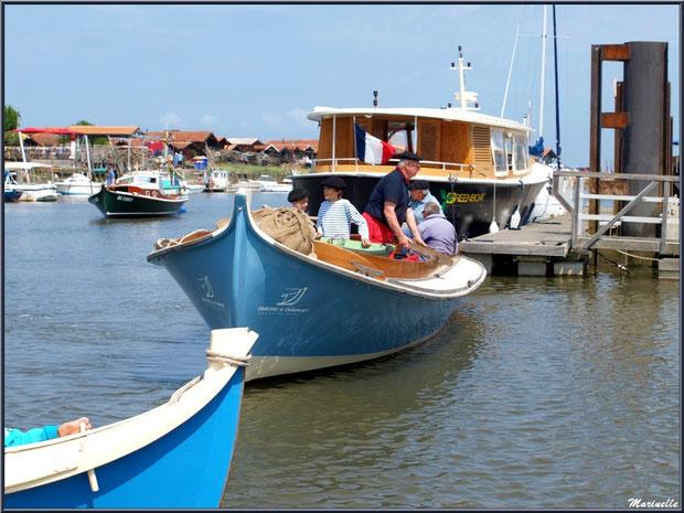 Pinasses et pinassote revenant de la pêche à la sardine - Fête du Retour de la Pêche à la Sardine 2014 à Gujan-Mestras, Bassin d'Arcachon (33)