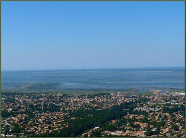 Gujan Mestras et le Bassin à marée basse, Bassin d'Arcachon vu du ciel (33)