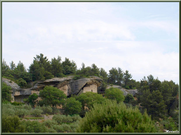 Habitat troglodyte sur la route menant à Goult, Lubéron - Vaucluse (84)