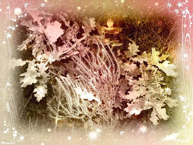 Feuilles de chêne et bruyère festives