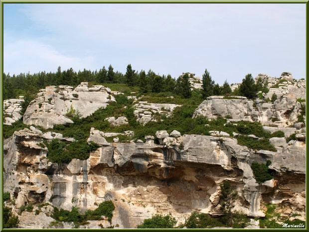 Le Val d'Enfer avec ses rochers et sa garrigue, Baux-de-Provence, Alpille (13)
