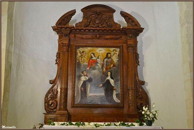 Tableau du rétable du choeur de l'église Saint Sébastien - Goult, Lubéron - Vaucluse (84)