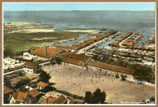 Gujan-Mestras autrefois : La colonie de vacances Jeanne d'Arc au Port du Canal, Bassin d'Arcachon (carte postale, collection privée)