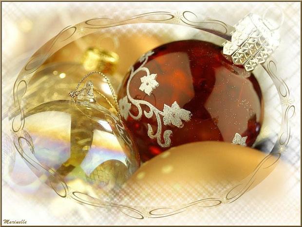 Boules de Noël en féérie