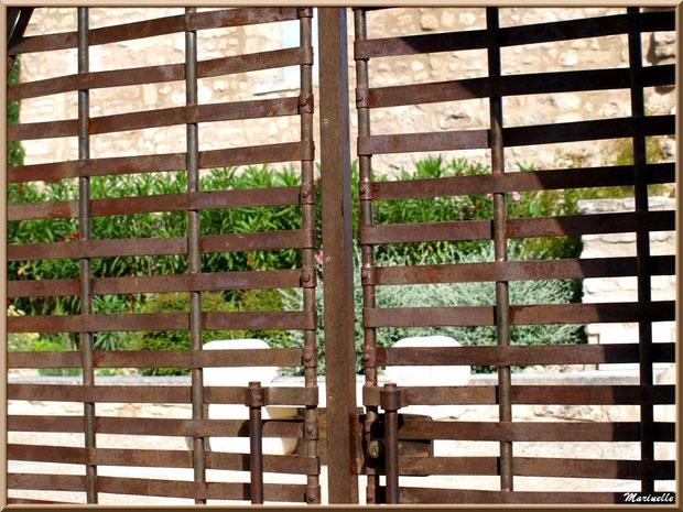 Regard indiscret au travers d'une grille, Baux-de-Provence, Alpilles (13)