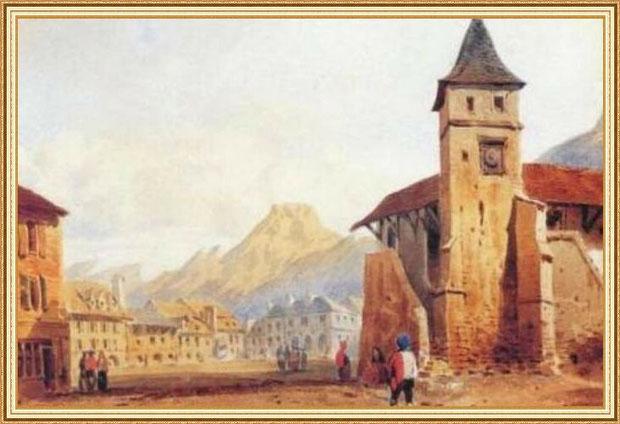 Ancienne église du village de Laruns du XV-XVIème siècle, Vallée d'Ossau (34)