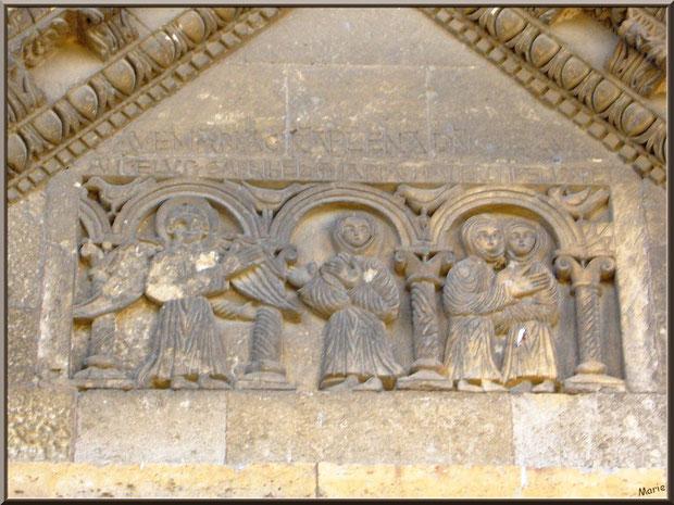 La chapelle Saint Gabriel à Saint Etienne du Grès dans les Alpilles (Bouches du Rhône) : partie supérieure de la coupole représentant l'Annonciation