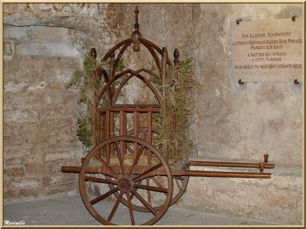 Charrette pour la cérémonie du pastrage dans l'église Saint-Vincent, Les Baux-de-Provence, Alpilles (13)