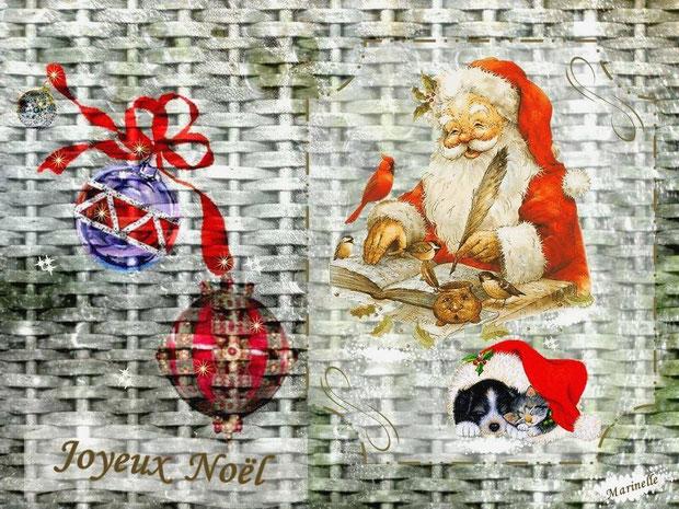 Joyeux Noël, Père Noêl et sa liste de commande